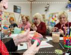 elderly doing some arts