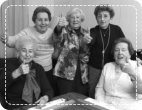 elderly giving thumbsup together